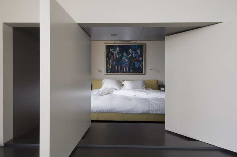 Luigi Rosselli, Bedroom, Rotating Door, Pivot Door, Rotating Screen