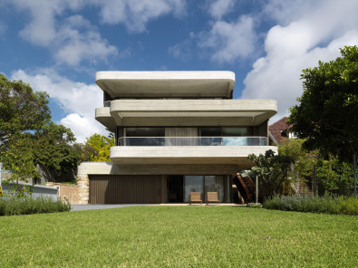 Luigi Rosselli, Gordons Bay House, Concrete, Off Form Concrete, Cantilever, Timber Garage Door