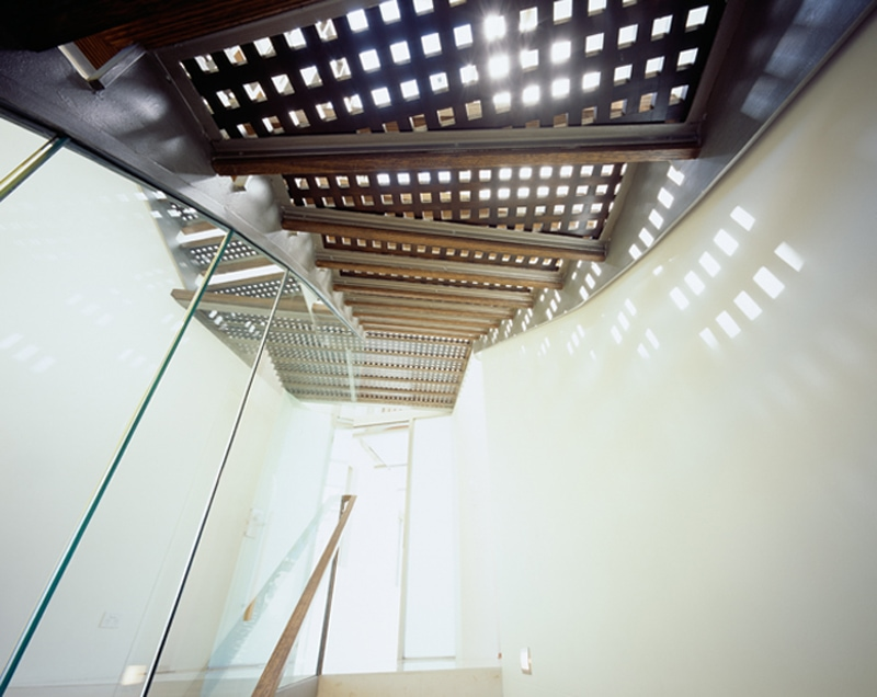 Luigi Rosselli, Steel Staircase, Perforated Steel Stair Treads