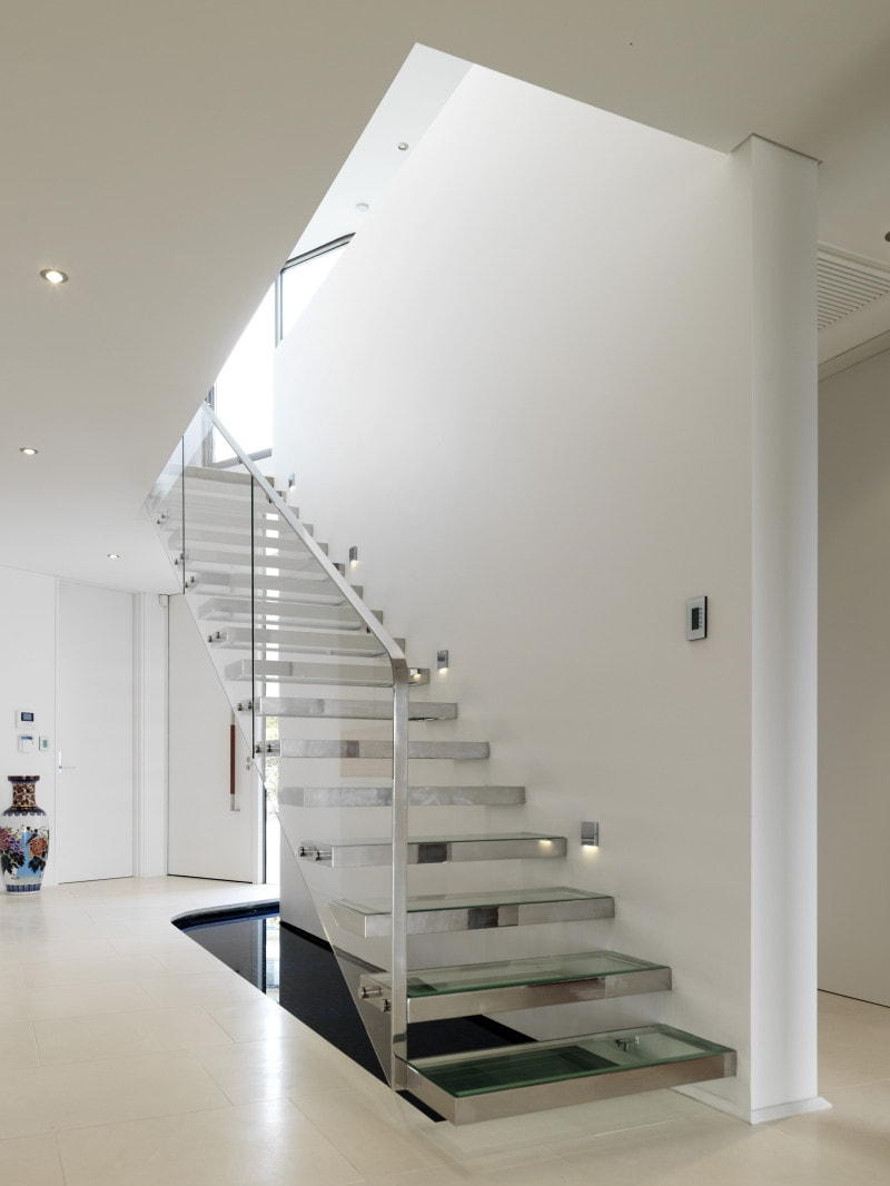 Luigi Rosselli, Glass Steps, Cantilevered Steps, Stairs, Floating Stairs