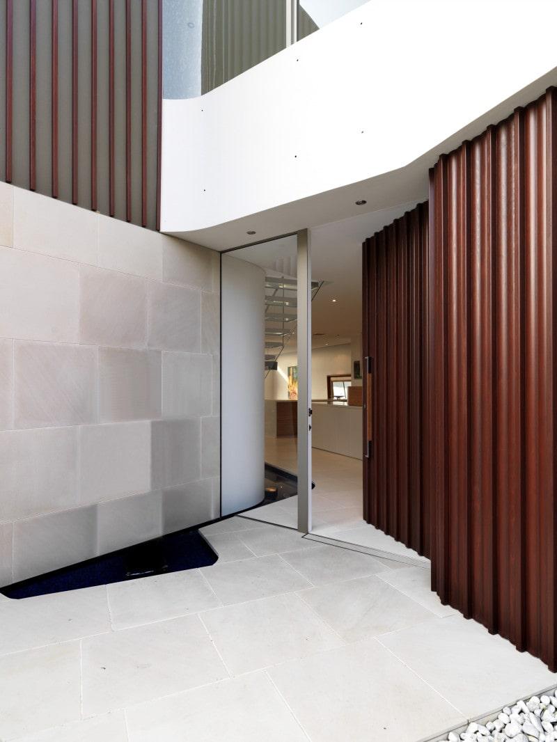 Luigi Rosselli, Timber Door, Entry Door, Stone Cladding