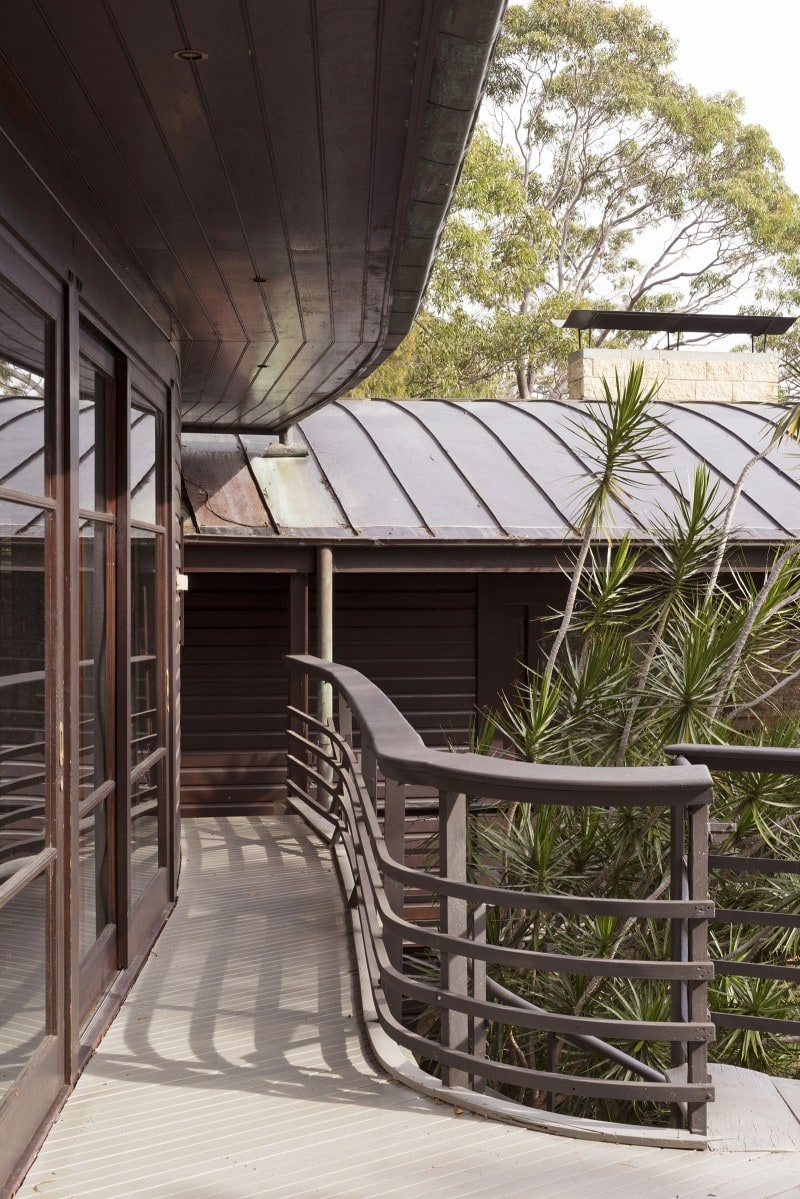 Luigi Rosselli, Copper Roof, Standing Seam, Curved Steel Balustrade