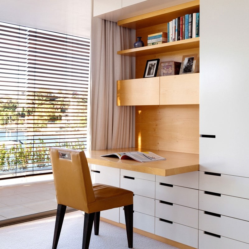 Luigi Rosselli, Custom Joinery, Cut out Joinery Handles, Desk, Study