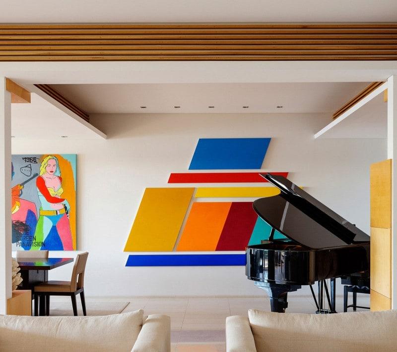 Luigi Rosselli, Living Room, Piano Roomy, Colourful Artwork