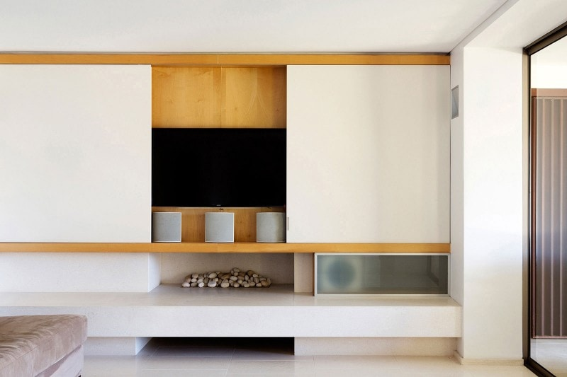 Luigi Rosselli, TV joinery, Concealed TV joinery, Fireplace, Built in Modern Fireplace