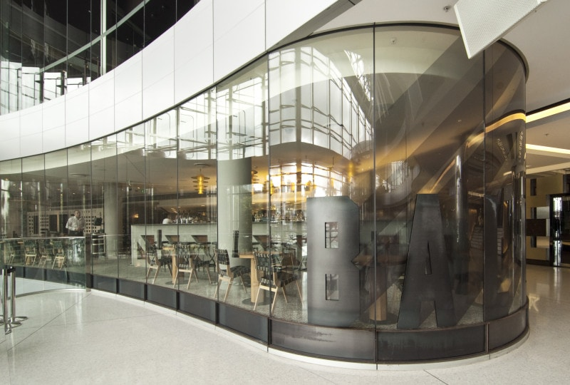Luigi Rosselli, Restaurant, Bar Design, Curved glass