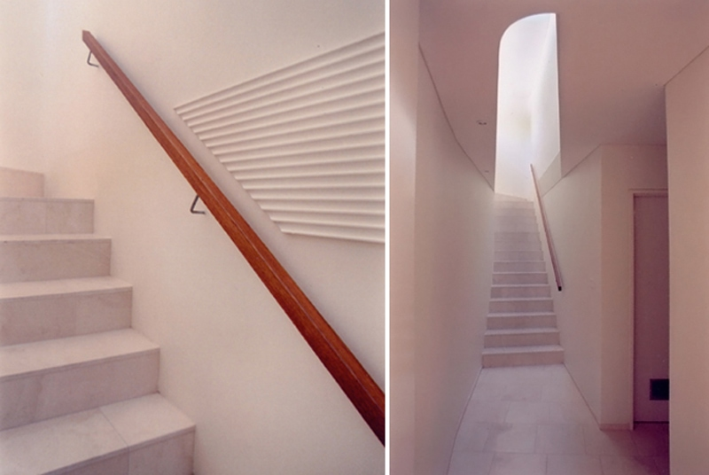 Luigi Rosselli, Stair, Timber Stair Handrail, Curved Void, Straight Long Stair