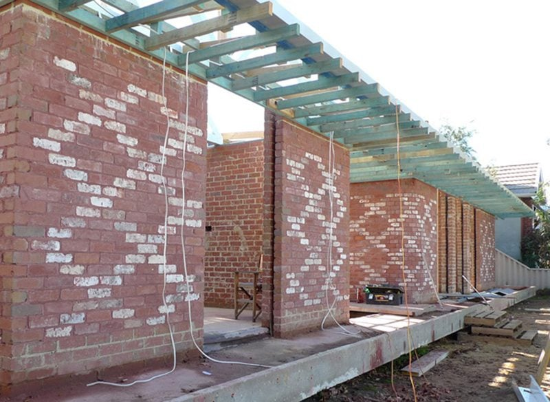 Luigi Rosselli Architects, Recycled Bricks, Patterned Bricks, Construction