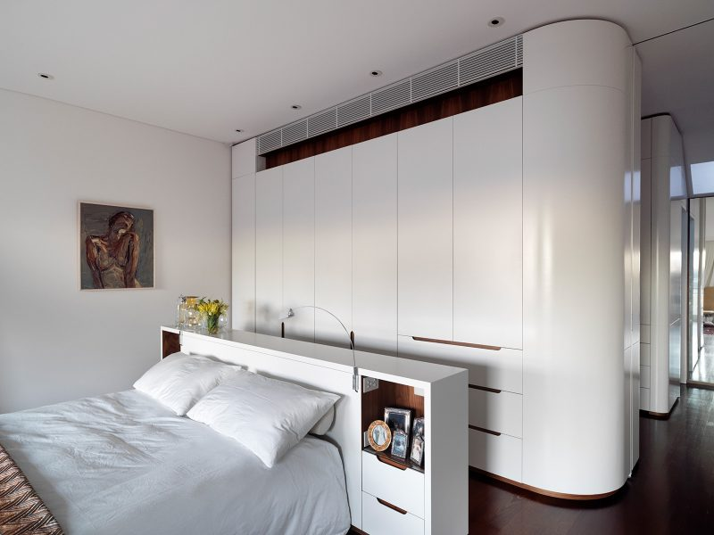Bedhead Joinery, Curved Joinery, Bedhead, Bedroom, Luigi Rosselli
