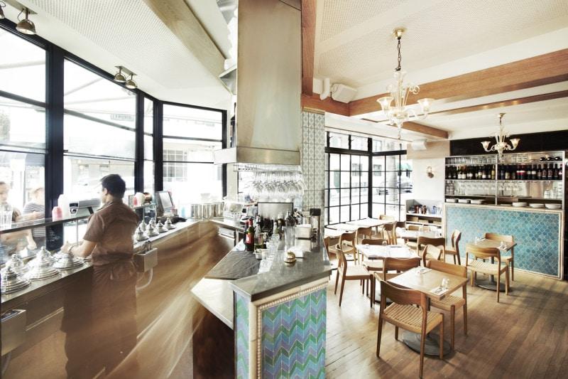 Luigi Rosselli, Cafe, Commercial Interior Architecture, Kitchen, Restaurant