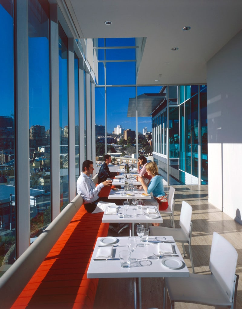 Luigi Rosselli, Full Height Glazing, Window Seat, Window View, Dining Area, Restaurant Design