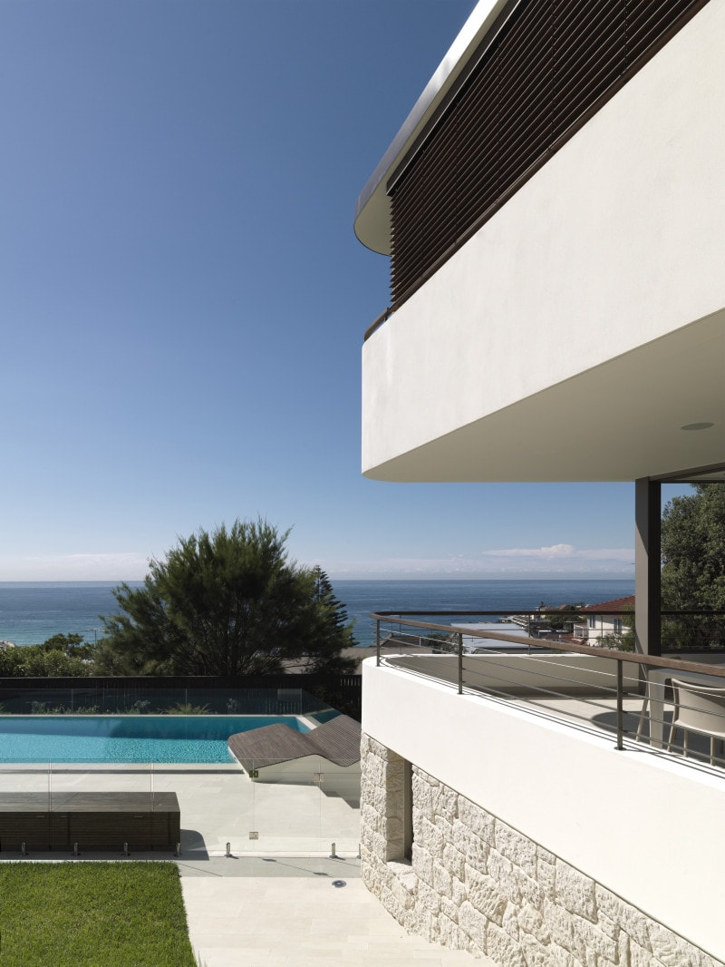 Luigi Rosselli, Balcony, Bronte Beach, Swimming Pool, Swimming, Sandstone, Stone, Lawn, White, Concrete