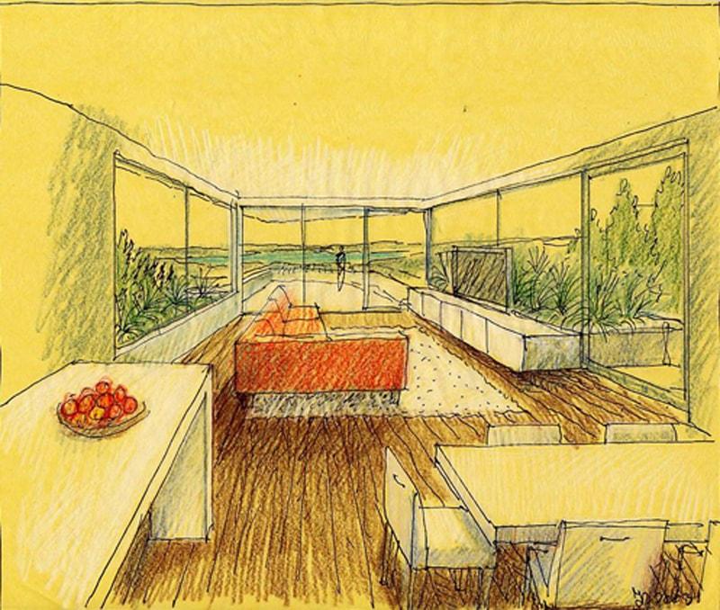 Luigi Rosselli, Perspective, Sketch