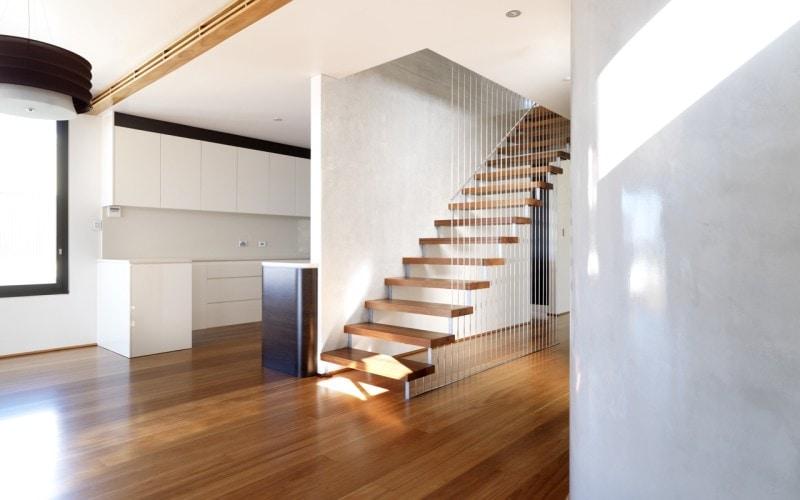 Luigi Rosselli, Floating Stairs, Timber Floorboards
