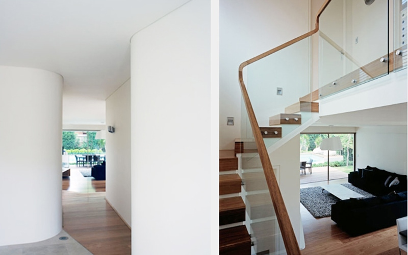 Luigi Rosselli, Stair, Timber Handrail Glazed Balustrade