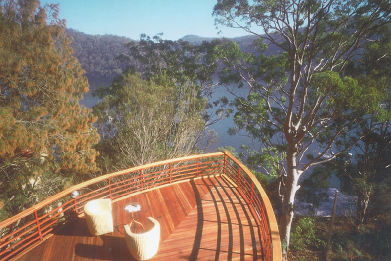 Luigi Rosselli, Boat House, Timber Deck, Outback House