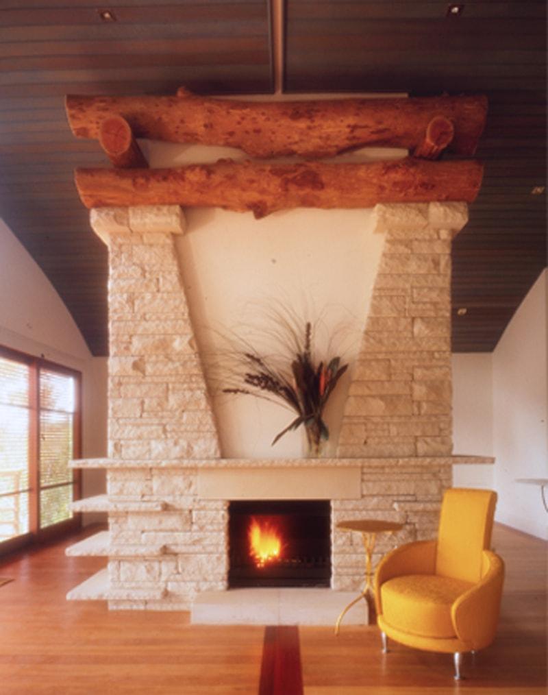 Luigi Rosselli, Sandstone Stonework, Sandstone Wall, Fireplace, Sandstone Fireplace