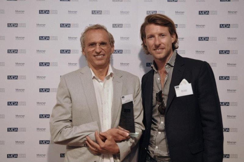 Luigi Rosselli and Nick Tobias at the Mosman Design Awards