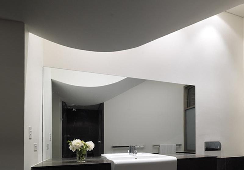 Curved Ceiling, Bathroom, Luigi Rosselli
