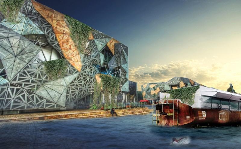 Luigi Rosselli, Harbour, Sydney, Architectural Competition