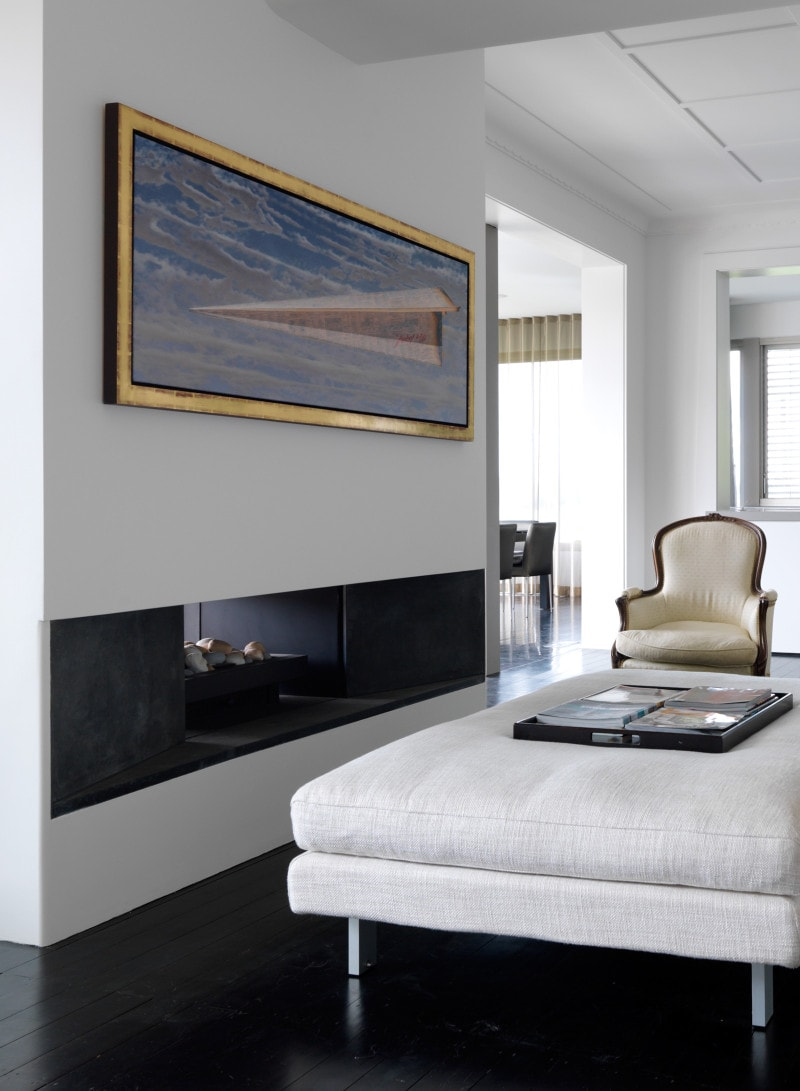 Luigi Rosselli, Living Room, Fireplace, Modern
