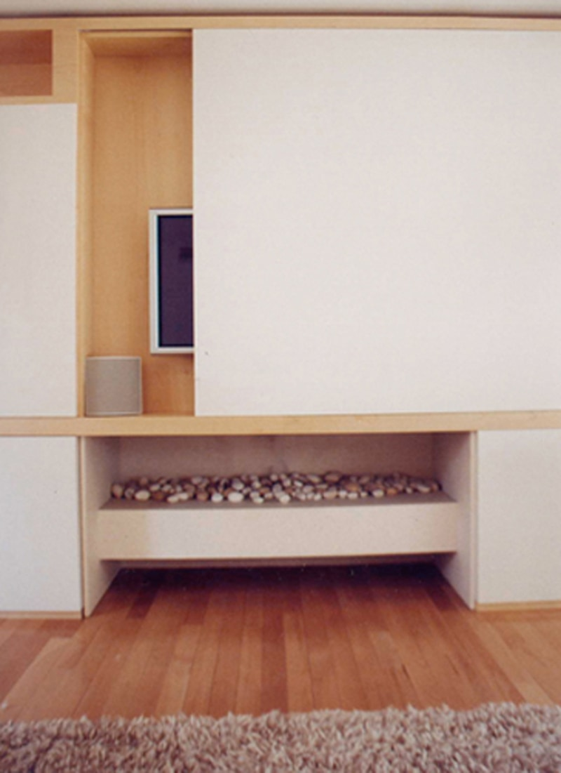 Luigi Rosselli, Living Room, Fireplace, Modern, Built in Custom Joinery