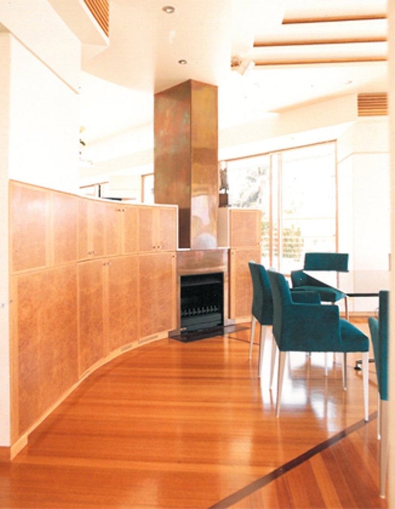 Luigi Rosselli, Copper Fireplace, Dining Room