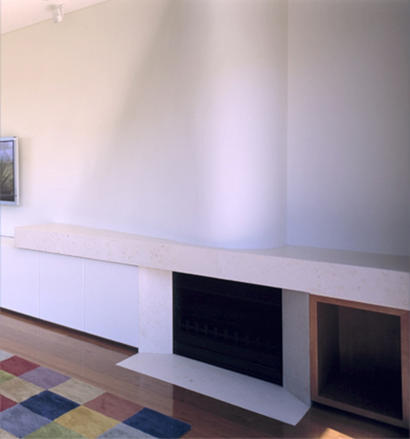 Luigi Rosselli, Curved Fireplace