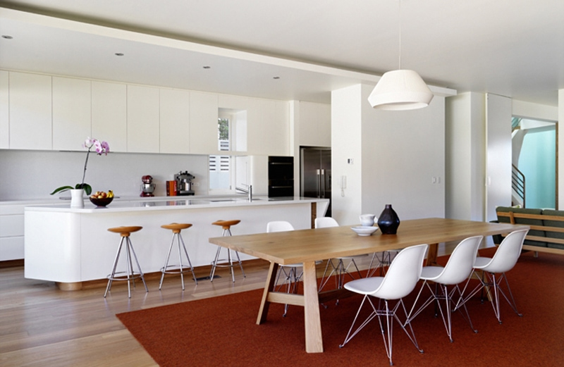 Luigi Rosselli, Kitchen, White Kitchen, Dining Room, Island Bench
