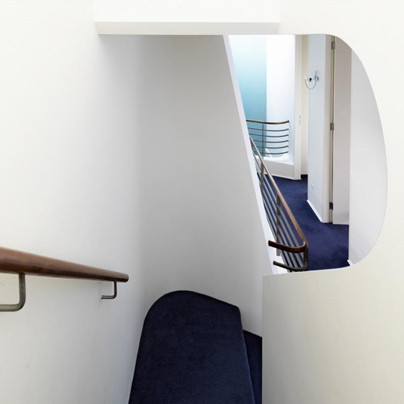 Luigi Rosselli, Stair Void, Curve, Void, Circular, Timber Handrail