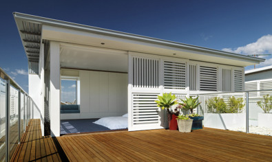 Luigi Rosselli, Slatted Timber Shutter, Shadows, Balcony, TImber Deck