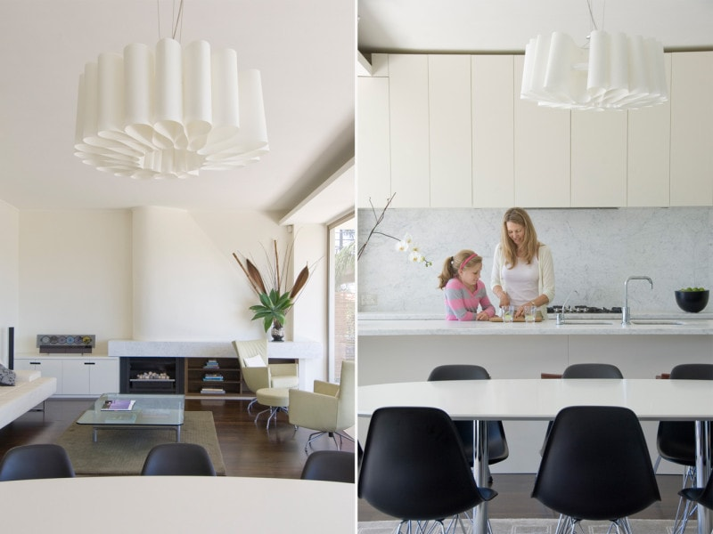 Luigi Rosselli, Dining Room, White Kitchen, Living Room, Curved Wall
