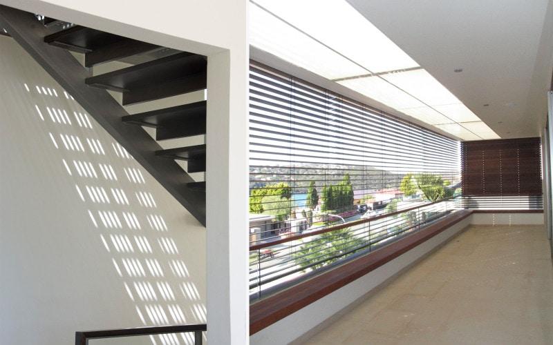 Luigi Rosselli, Steel Metal Stairs, Open Stairs, Light Shadows, Sunroom, Balcony, Enclosed Balcony