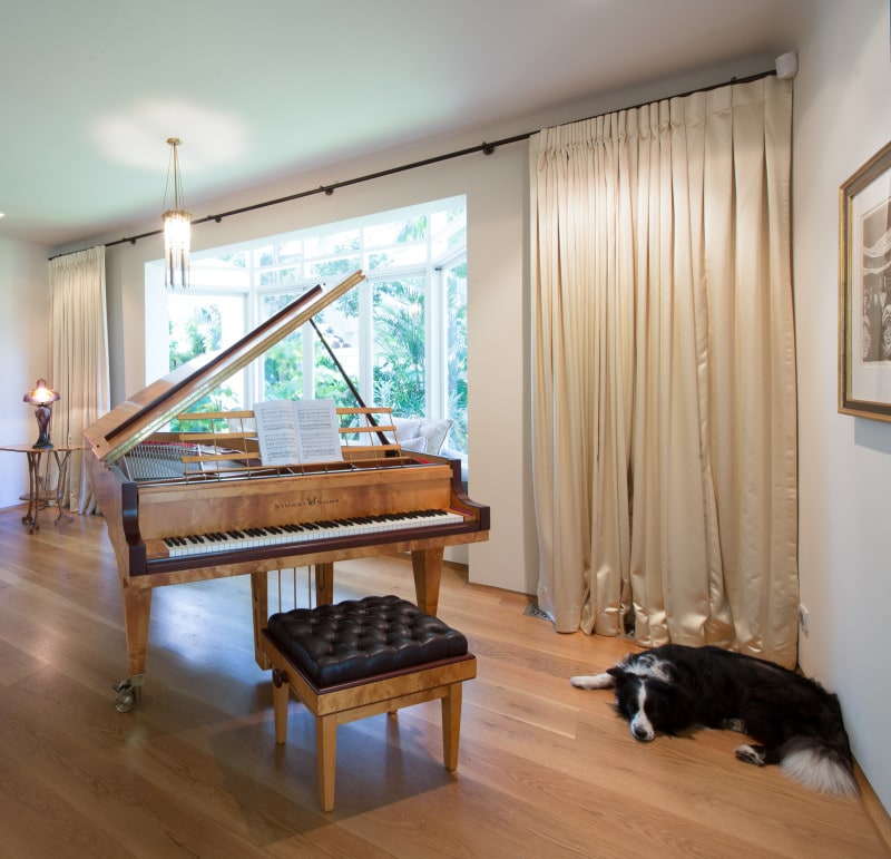 Luigi Rosselli, Piano Room, Sheer Curtains, Music Room