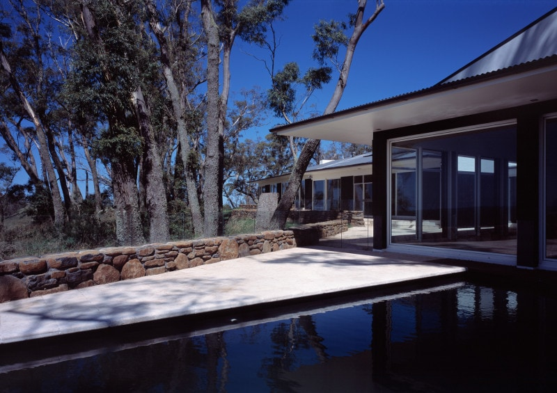 Luigi Rosselli, Standing Seam Roof, Swimming Pool, Pool, Stone Wall, Outback House