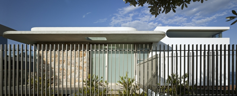 Luigi Rosselli, Picket Fences, Steel Rod Fence, Concrete Awning Cover, Skylight