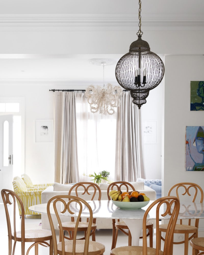 light filled dining and sitting room