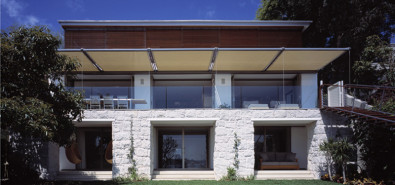 Luigi Rosselli, Awning, Fixed Awning, Sunshade, Stone Cladding