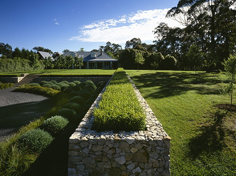 Luigi Rosselli, Hedge, Stone Planter Box