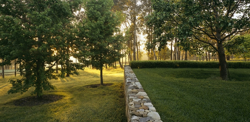 Luigi Rosselli, Southern Highlands, Trees, Grass Plains, Stone Wall
