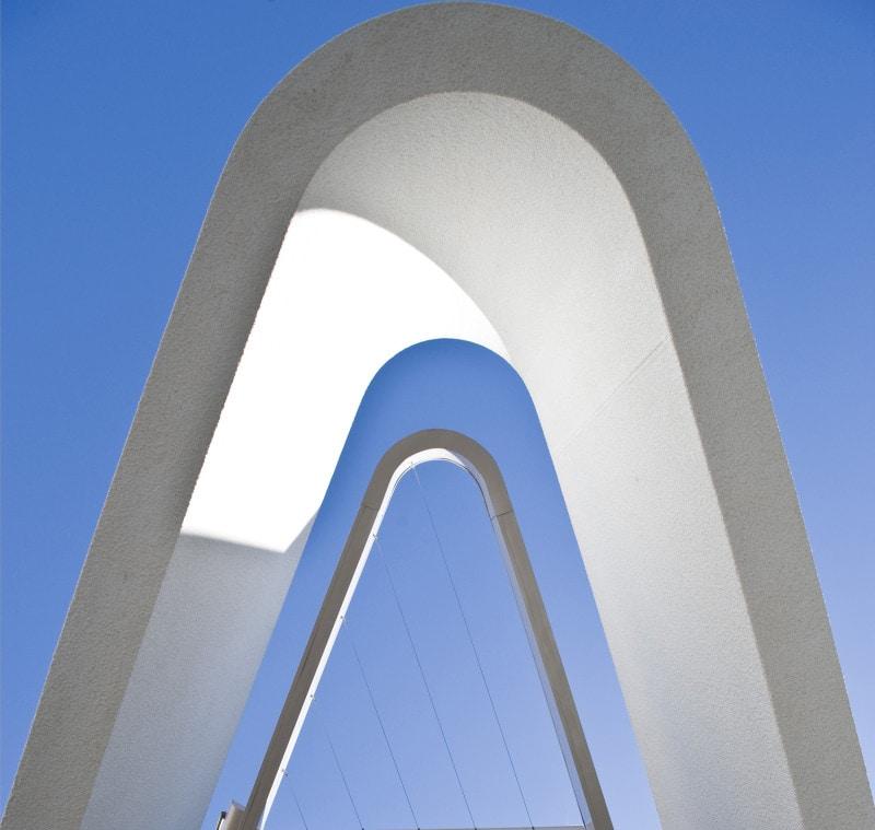 Luigi Rosselli, Concrete, Curved Concrete, Triangular Awning