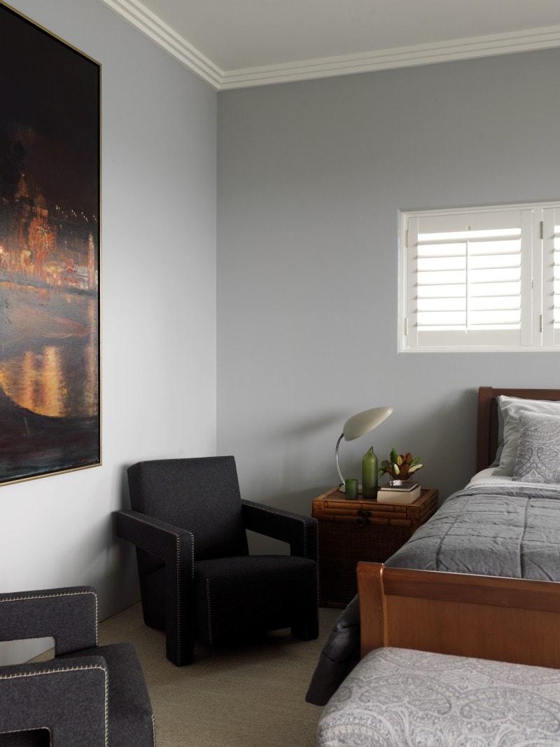 Luigi Rosselli, Armchair, White shutter bedroom