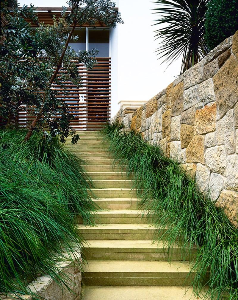 Luigi Rosselli, Sandstone, Stone, Landscaped Steps, Integrated Landscaping