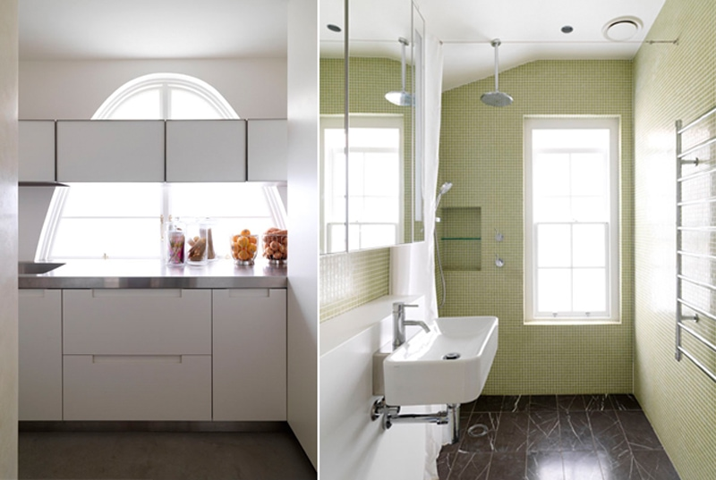 Arches Windows, Kitchen, Bathroom Green Bathroom