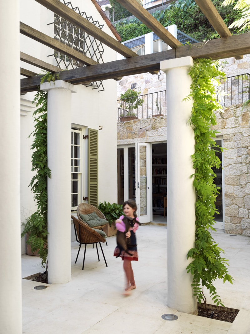 Luigi Rosselli, Exposed Timber Beams, Classical Columns, Exposed Brickwork, Brick, Climber Plants