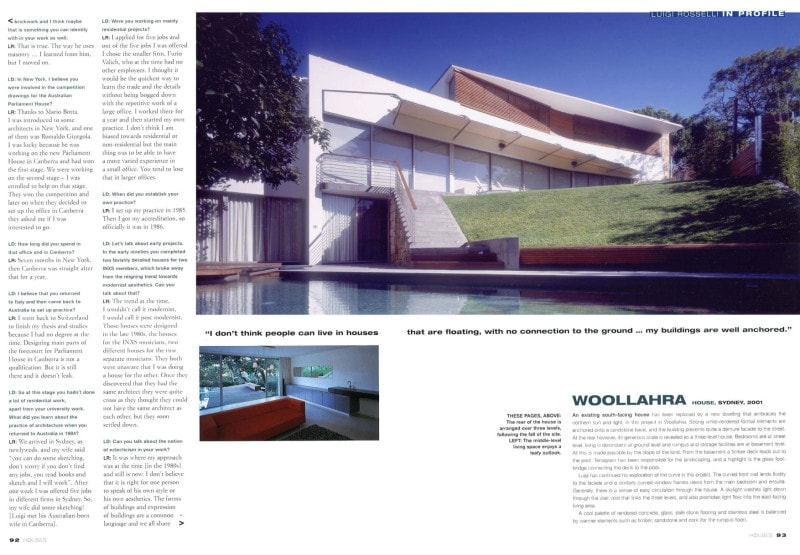 Luigi Rosselli Architects | Houses Magazine