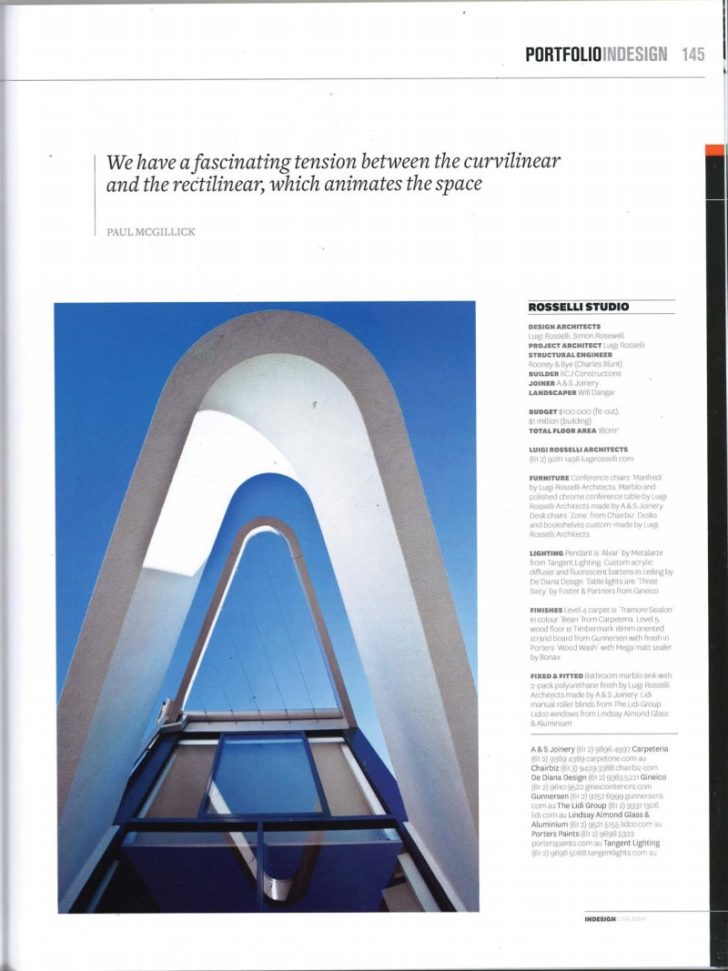 Luigi Rosselli Architects   Indesign - A new angle