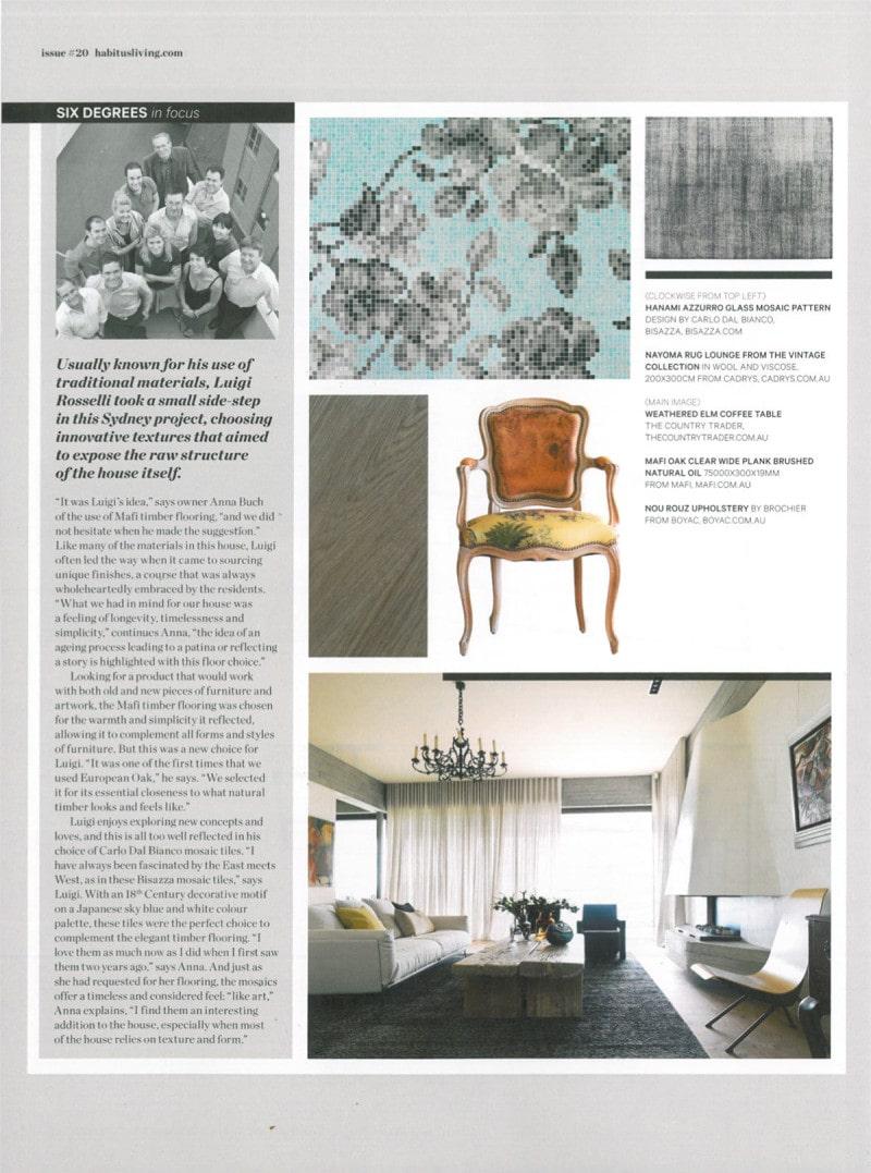 Luigi Rosselli Architects | Six Degrees of separation | Habitus Magazine