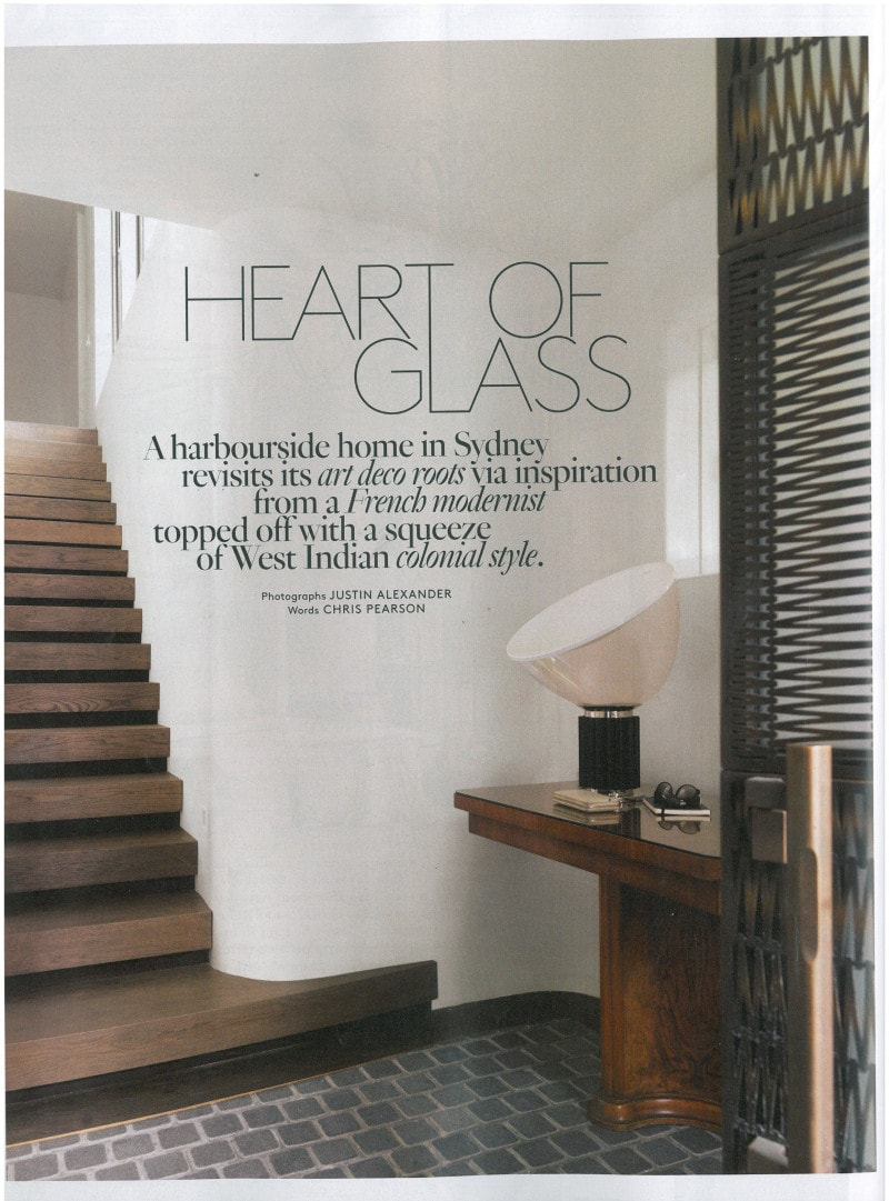Luigi Rosselli, Curved Stair, Dark Timber Stairs, Belle Magazine