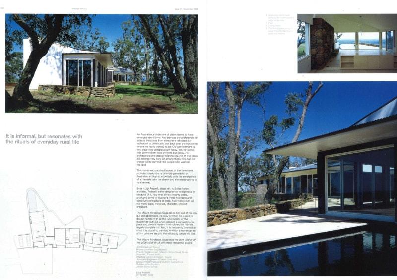 Luigi Rosselli Architects |Indesign - Home on the range 2008